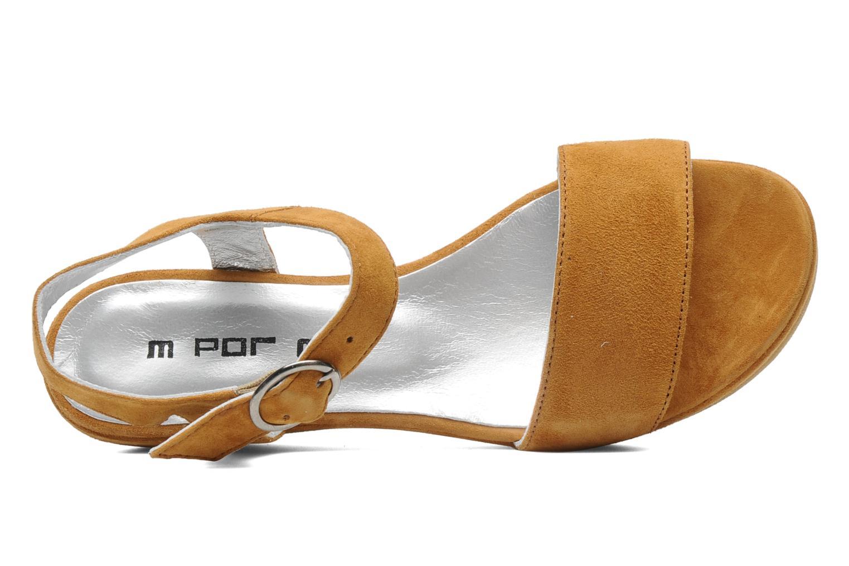 Sandales et nu-pieds M PAR M Derme Marron vue gauche