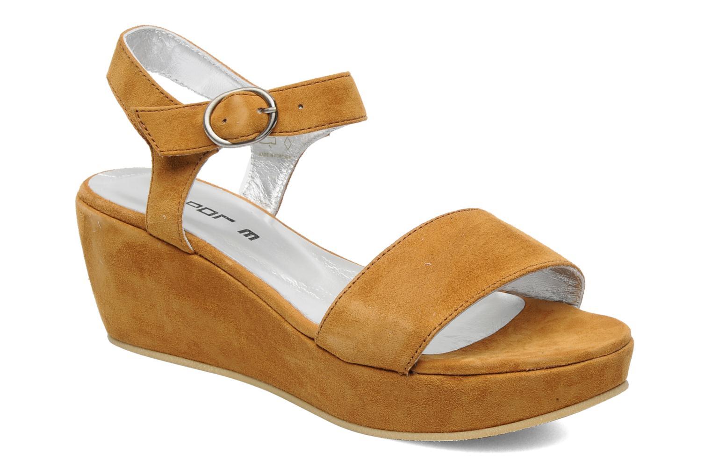Sandales et nu-pieds M PAR M Derme Marron vue détail/paire