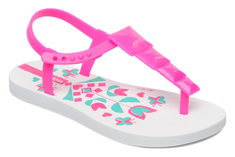 Charm Sandal Kids Blanc/rose