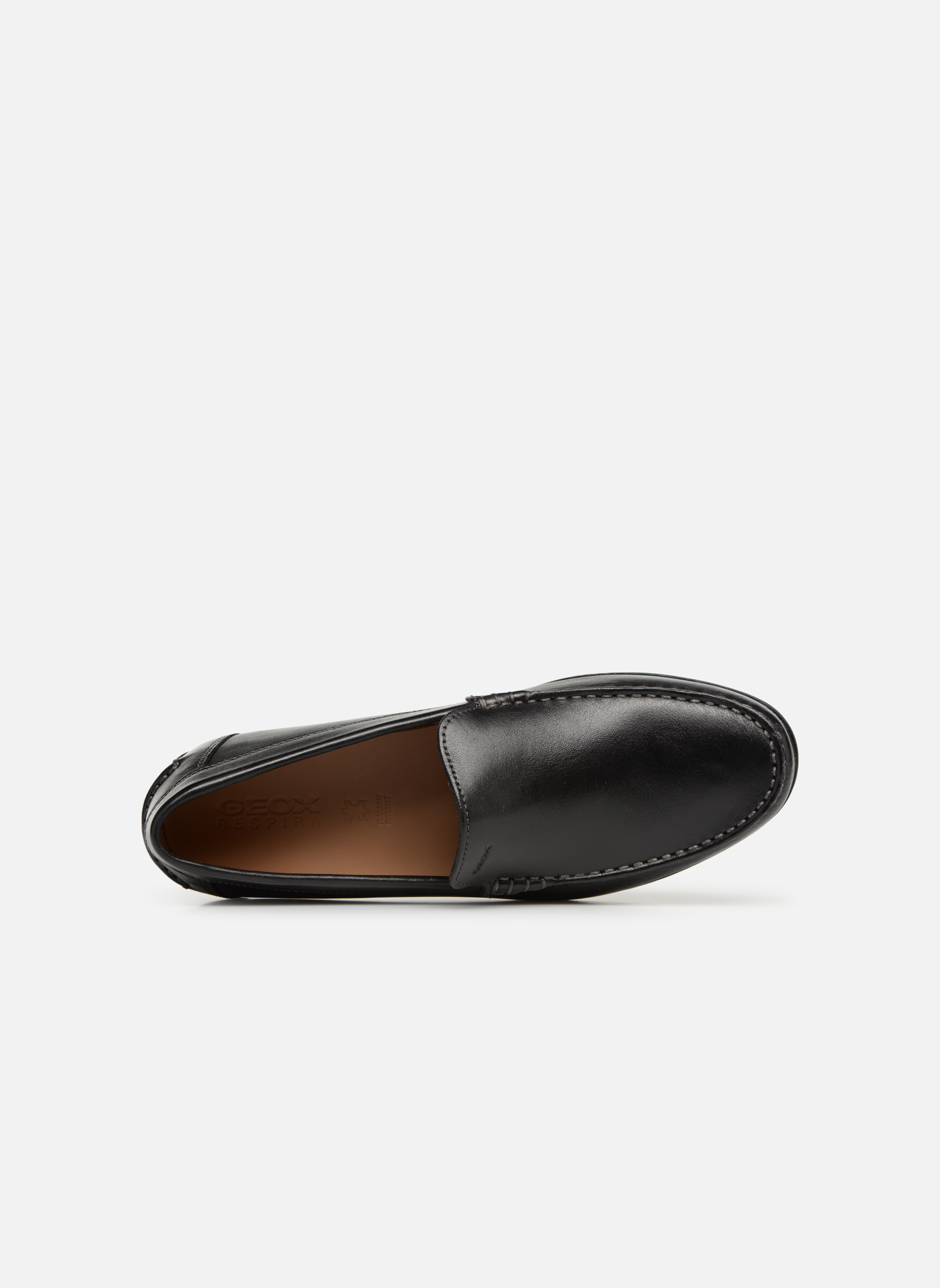 Loafers Geox U SIMON A U32Q3A Black view from the left