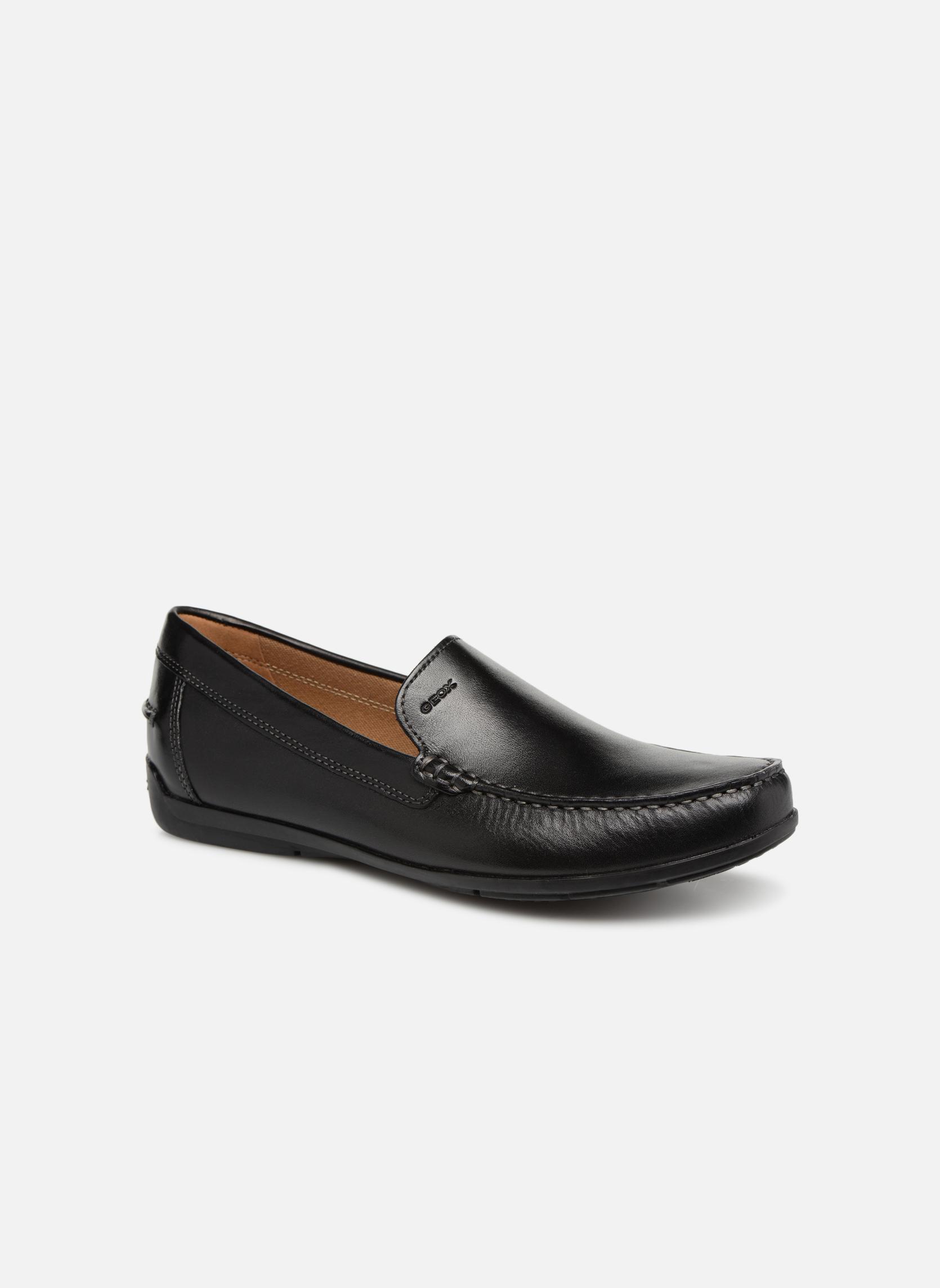 Loafers Geox U SIMON A U32Q3A Black detailed view/ Pair view