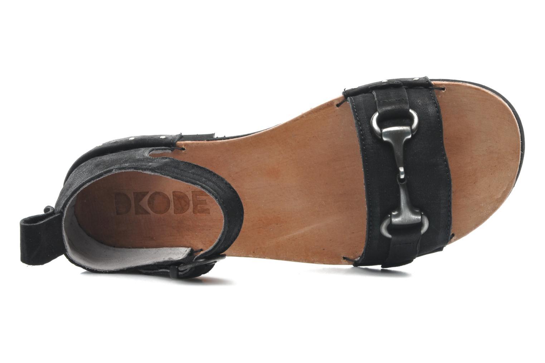 Sandales et nu-pieds Dkode Amy Noir vue gauche