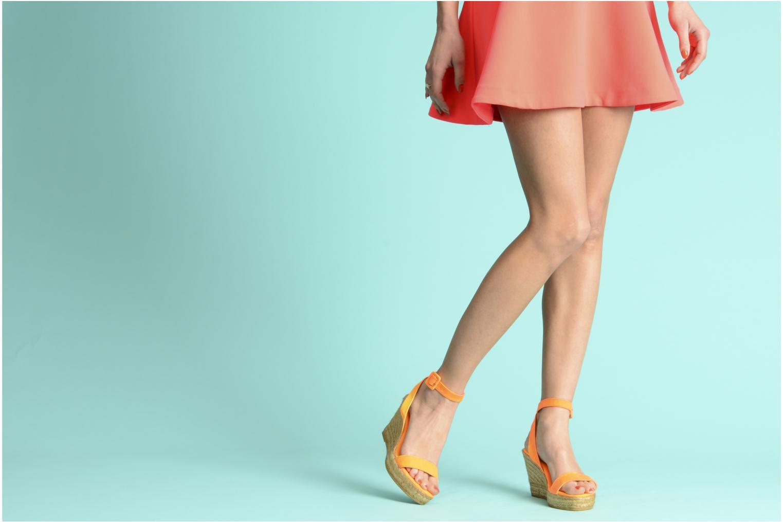 Sandales et nu-pieds Georgia Rose Inna Orange vue bas / vue portée sac