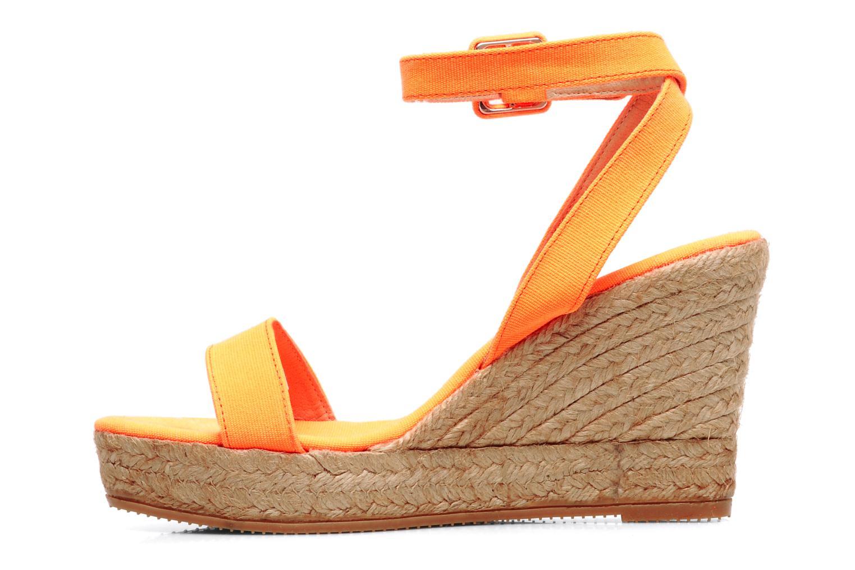 Sandales et nu-pieds Georgia Rose Inna Orange vue face