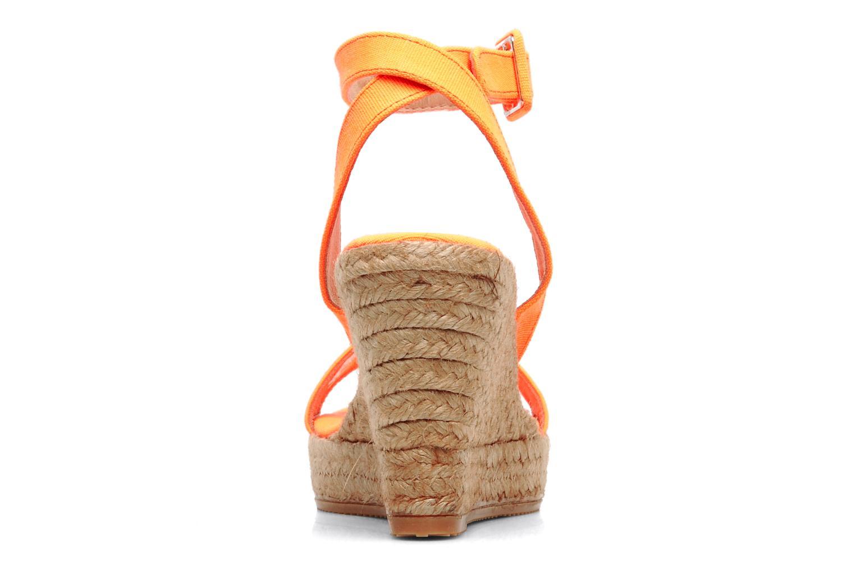 Sandales et nu-pieds Georgia Rose Inna Orange vue droite