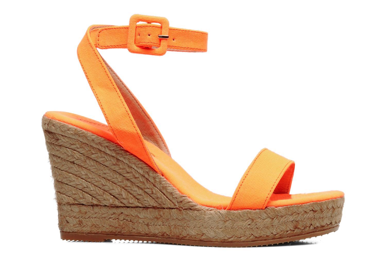 Sandales et nu-pieds Georgia Rose Inna Orange vue derrière