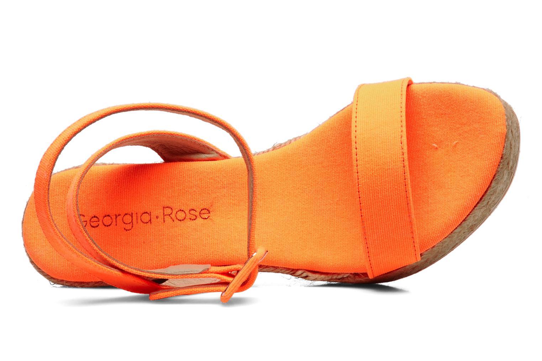 Sandales et nu-pieds Georgia Rose Inna Orange vue gauche