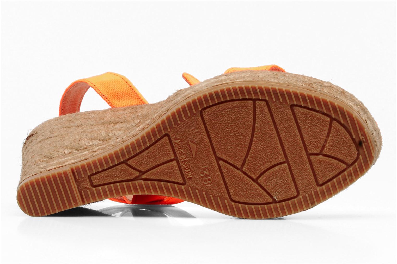 Sandales et nu-pieds Georgia Rose Inna Orange vue haut
