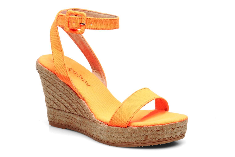 Sandales et nu-pieds Georgia Rose Inna Orange vue détail/paire
