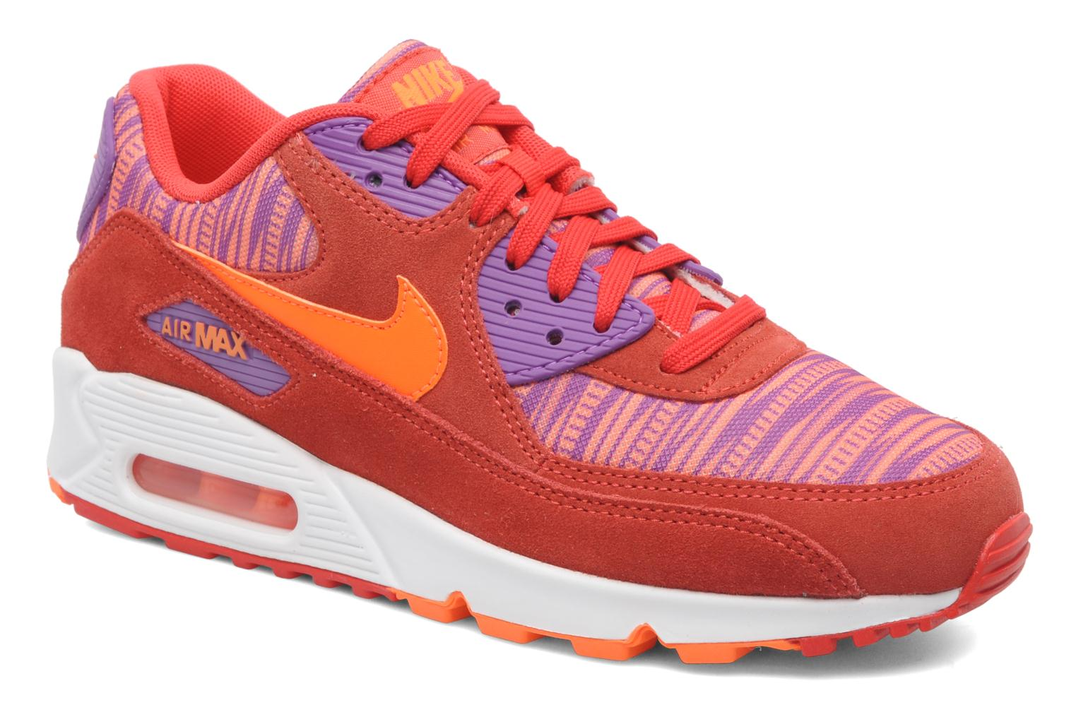 best sneakers c04c1 1afff Baskets Nike Nike Air Max 90 Essential Rouge vue détail paire
