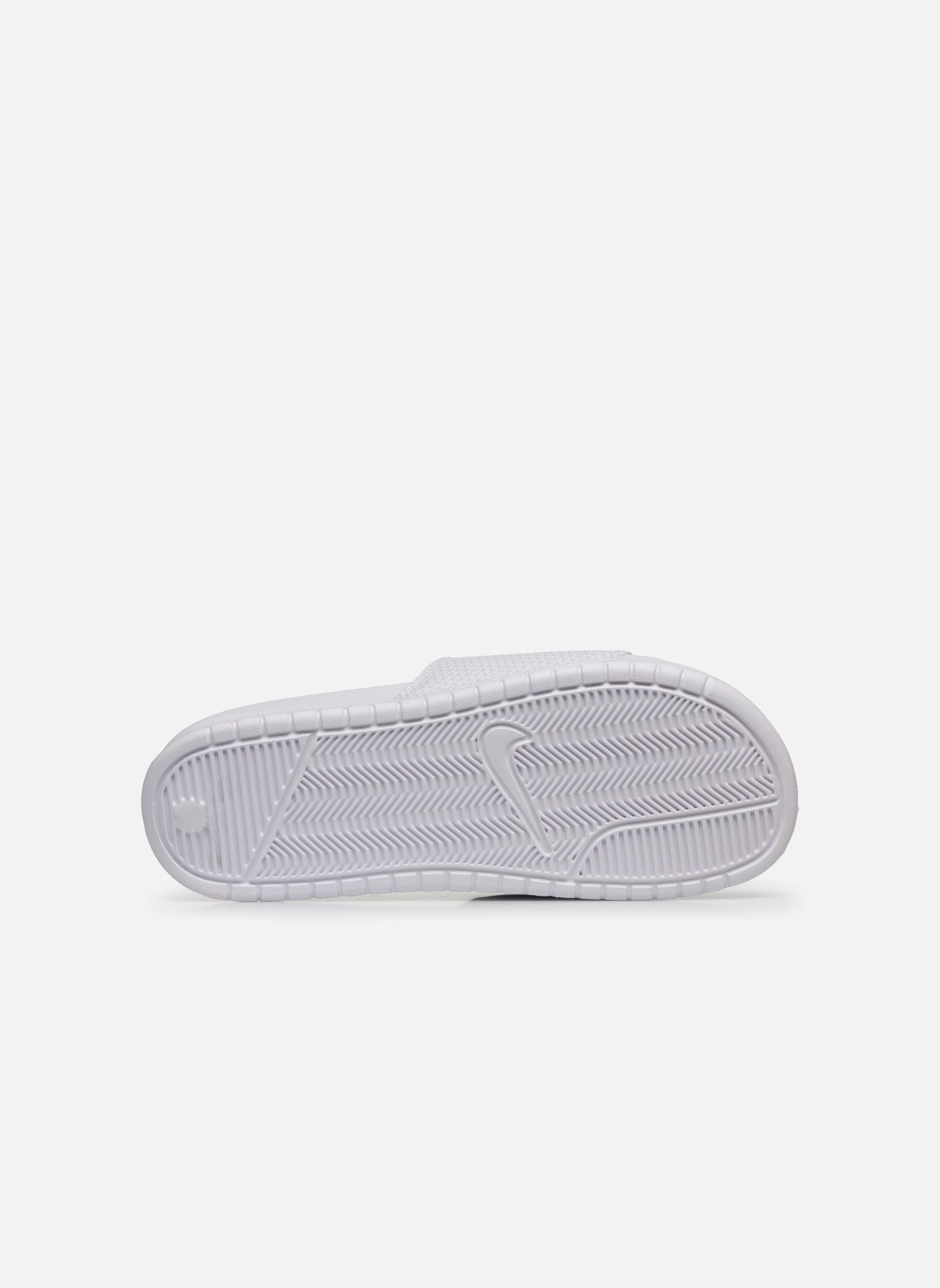 Sandales et nu-pieds Nike Benassi Jdi Blanc vue haut