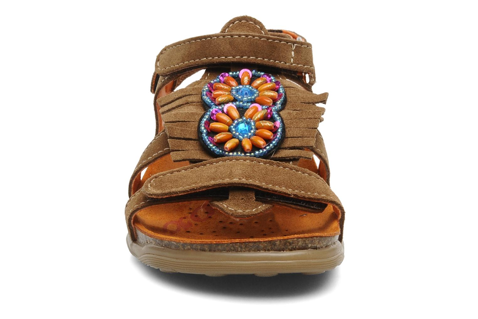Sandals Geox J S.ALOHA A Brown model view