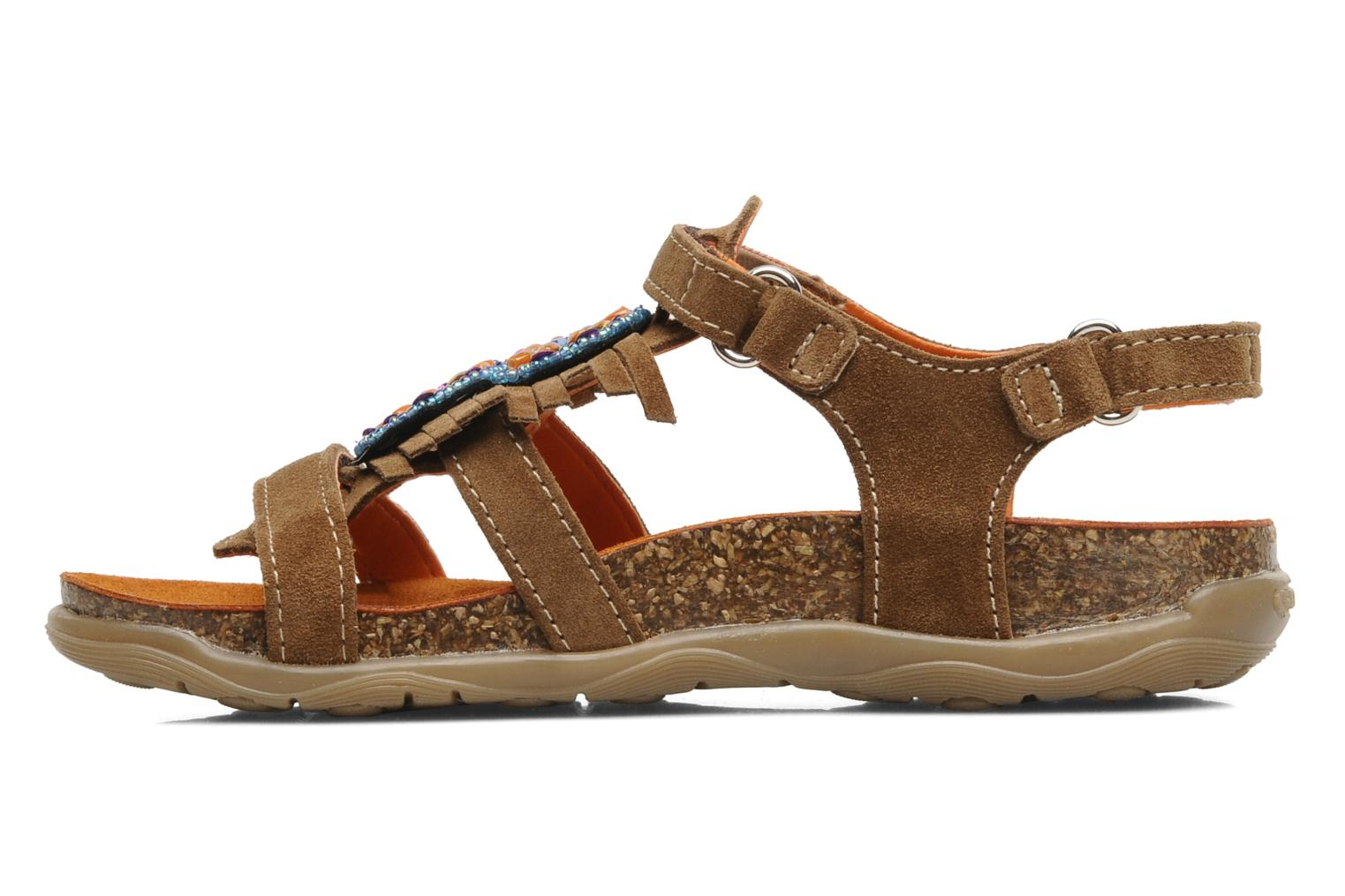 Sandals Geox J S.ALOHA A Brown front view
