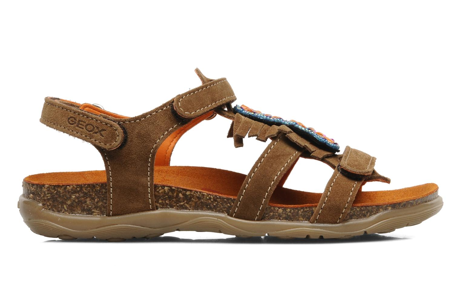Sandals Geox J S.ALOHA A Brown back view