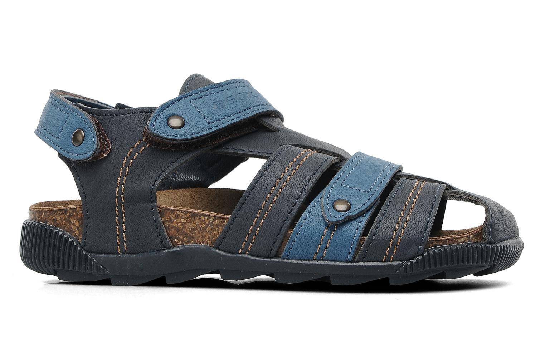Sandalen Geox J S.STORM A blau ansicht von hinten