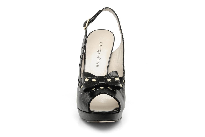 Sandales et nu-pieds Georgia Rose Anna Louisa Noir vue portées chaussures