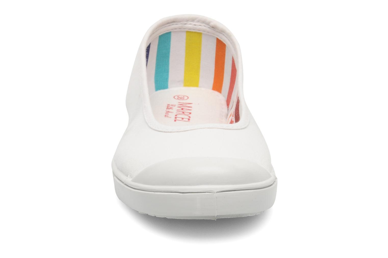 Ballerines Little Marcel Benibal Blanc vue portées chaussures