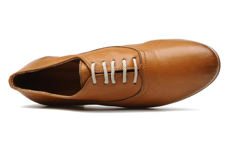 Chaussures à lacets Georgia Rose Lalla Marron vue gauche