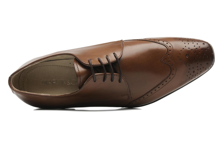 Zapatos con cordones Marvin&Co Thika Marrón vista lateral izquierda