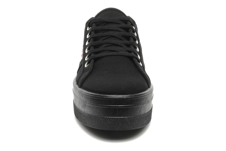Sneaker Victoria Blucher Lona Plataforma schwarz schuhe getragen