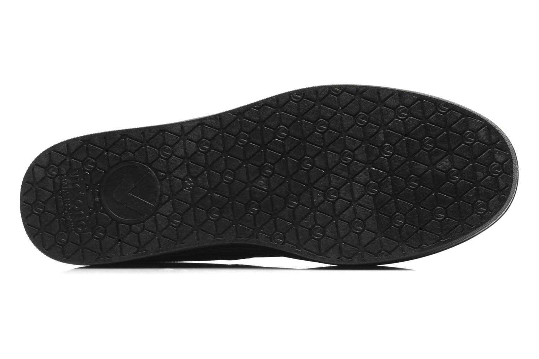 Sneaker Victoria Blucher Lona Plataforma schwarz ansicht von oben