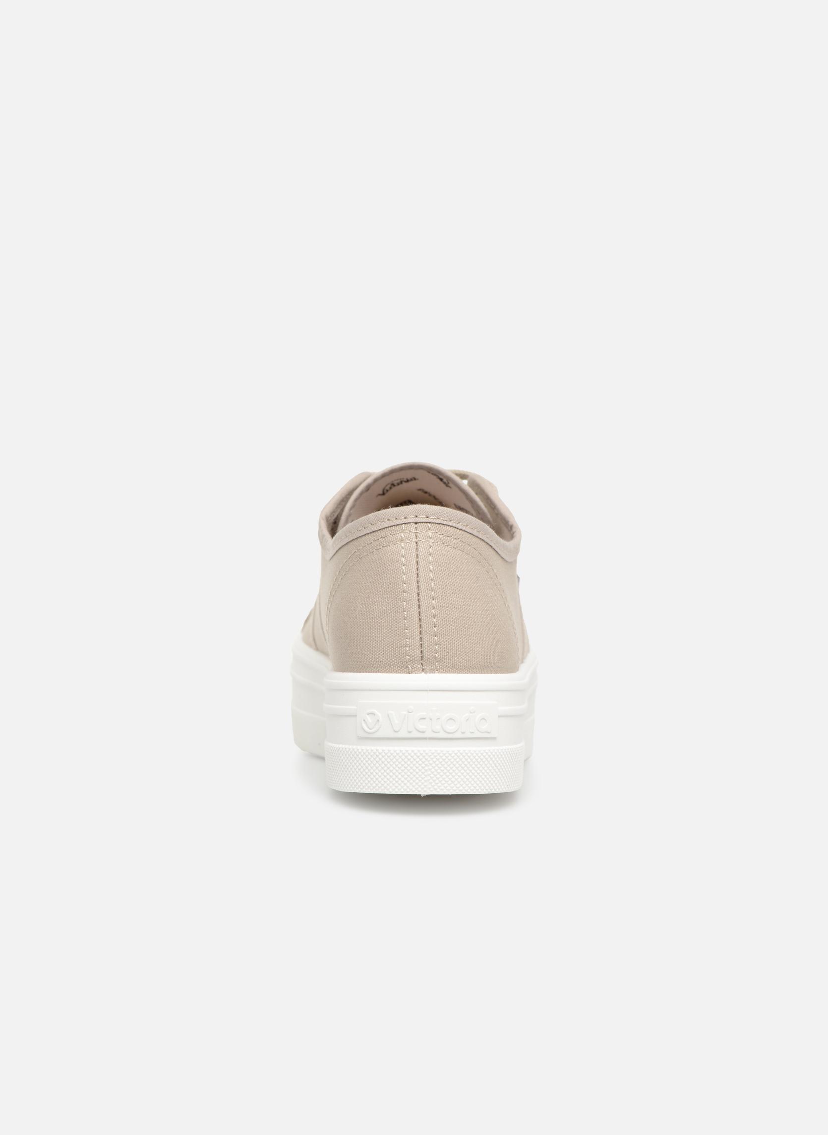 Sneaker Victoria Blucher Lona Plataforma beige ansicht von rechts
