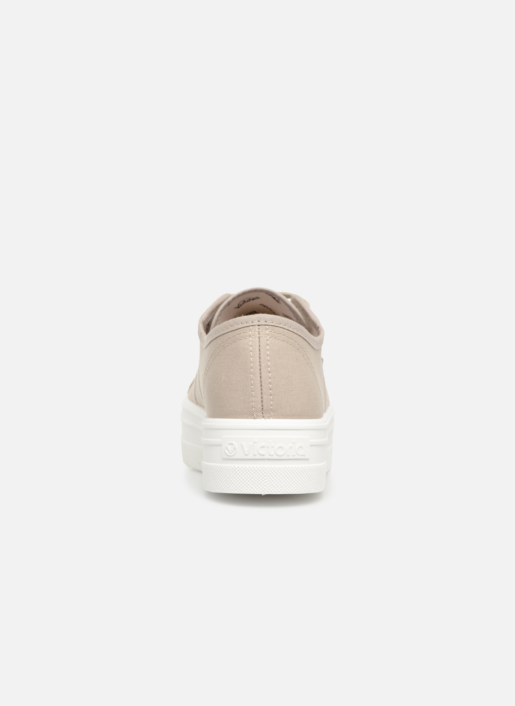 Trainers Victoria Blucher Lona Plataforma Beige view from the right