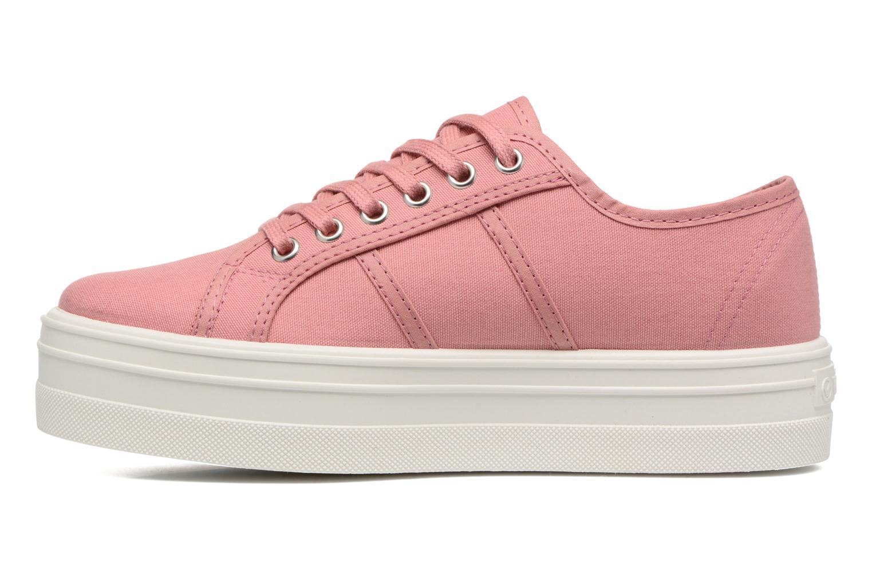 Sneaker Victoria Blucher Lona Plataforma rosa ansicht von vorne