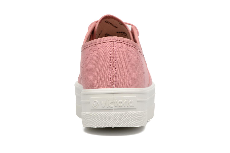 Sneaker Victoria Blucher Lona Plataforma rosa ansicht von rechts