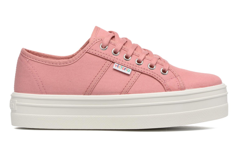 Sneaker Victoria Blucher Lona Plataforma rosa ansicht von hinten