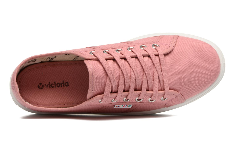 Sneaker Victoria Blucher Lona Plataforma rosa ansicht von links