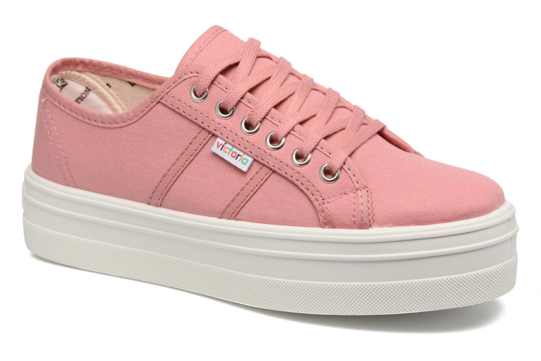 Sneaker Victoria Blucher Lona Plataforma rosa detaillierte ansicht/modell