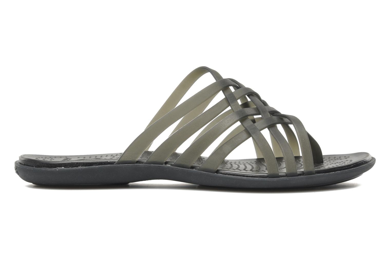 Zuecos Crocs Huarache Flip Flop Women Negro vistra trasera