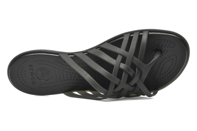 Zuecos Crocs Huarache Flip Flop Women Negro vista lateral izquierda