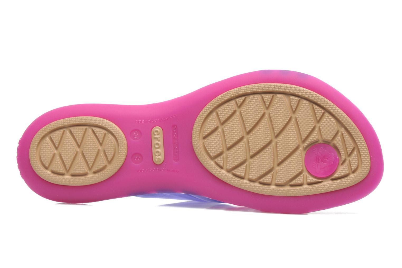 Wedges Crocs Huarache Flip Flop Women Paars boven