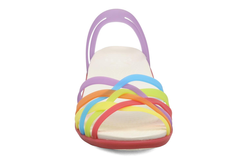 Sandales et nu-pieds Crocs Huarache Mini Wedge Women Multicolore vue portées chaussures