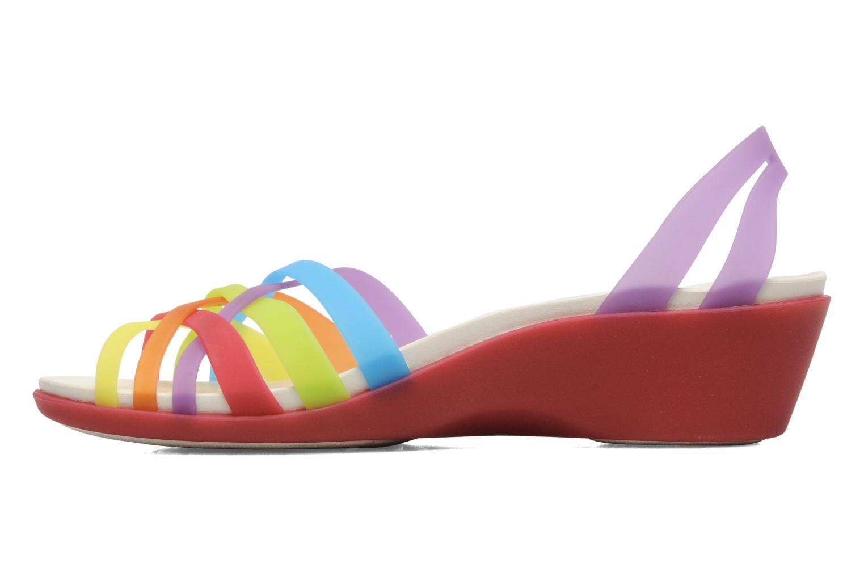 Sandales et nu-pieds Crocs Huarache Mini Wedge Women Multicolore vue face