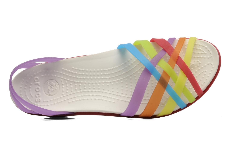 Sandales et nu-pieds Crocs Huarache Mini Wedge Women Multicolore vue gauche
