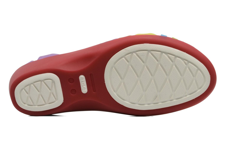 Sandales et nu-pieds Crocs Huarache Mini Wedge Women Multicolore vue haut