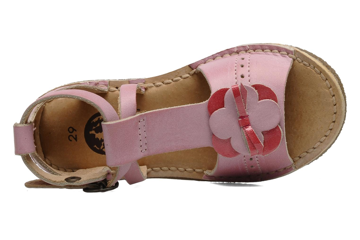 Sandalen Kickers Fanfare Roze links