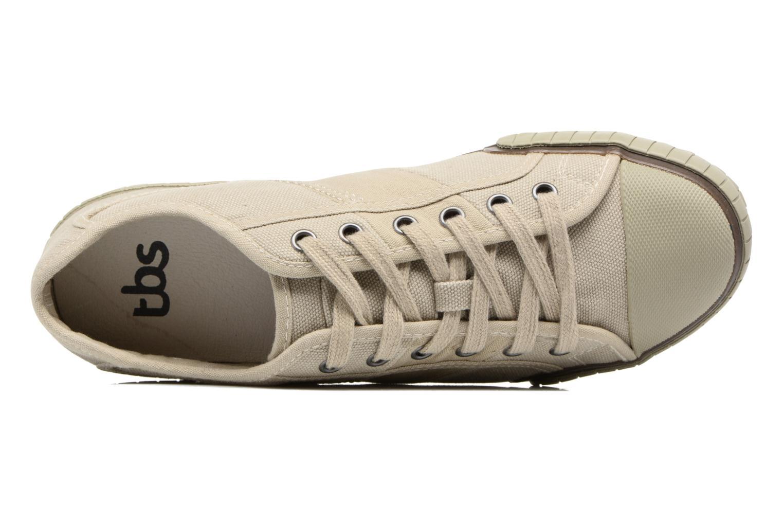 Sneaker TBS Crocky beige ansicht von links