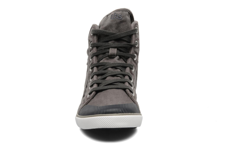 Baskets TBS Veluta Gris vue portées chaussures
