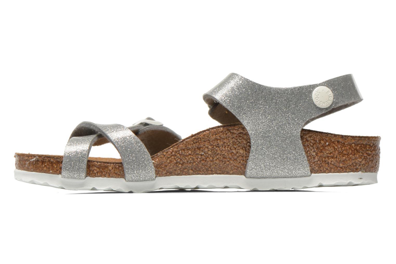 Sandalen Birkenstock Taormina Birko-Flor silber ansicht von vorne