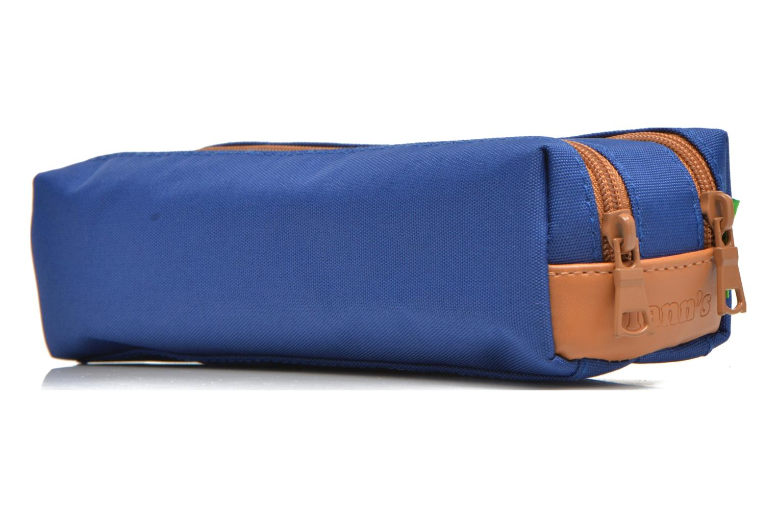 School bags Tann's Trousse double CLASSIC Blue view from the right