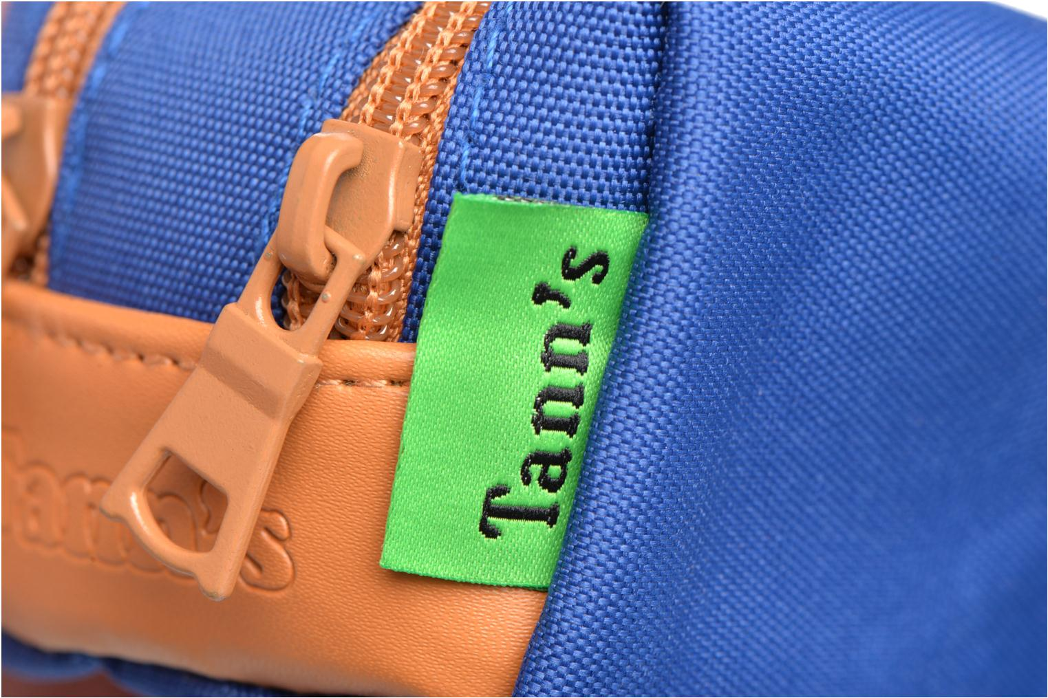 School bags Tann's Trousse double CLASSIC Blue view from the left