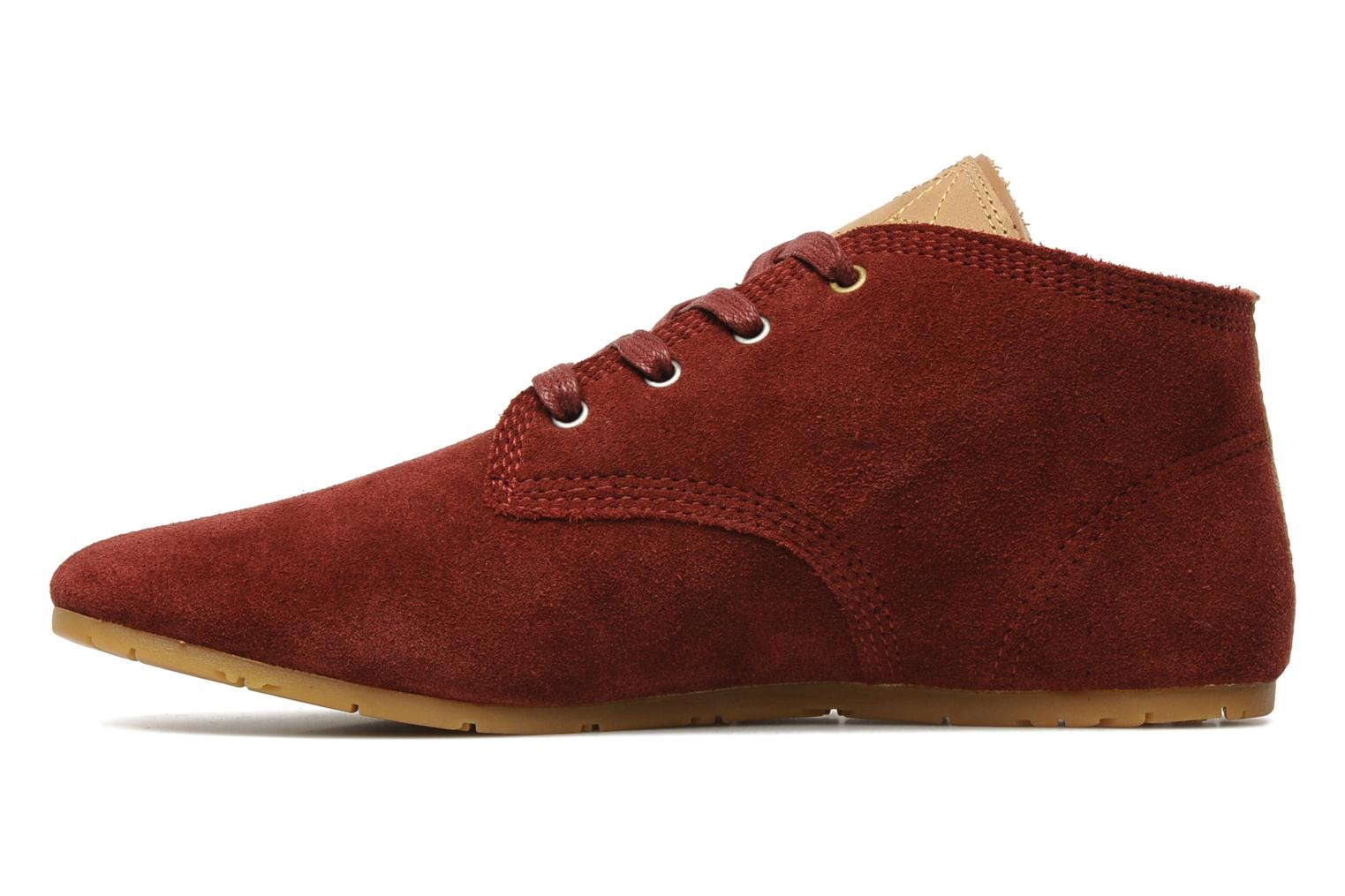 Trainers Eleven paris Basic Colors Suede F Burgundy front view