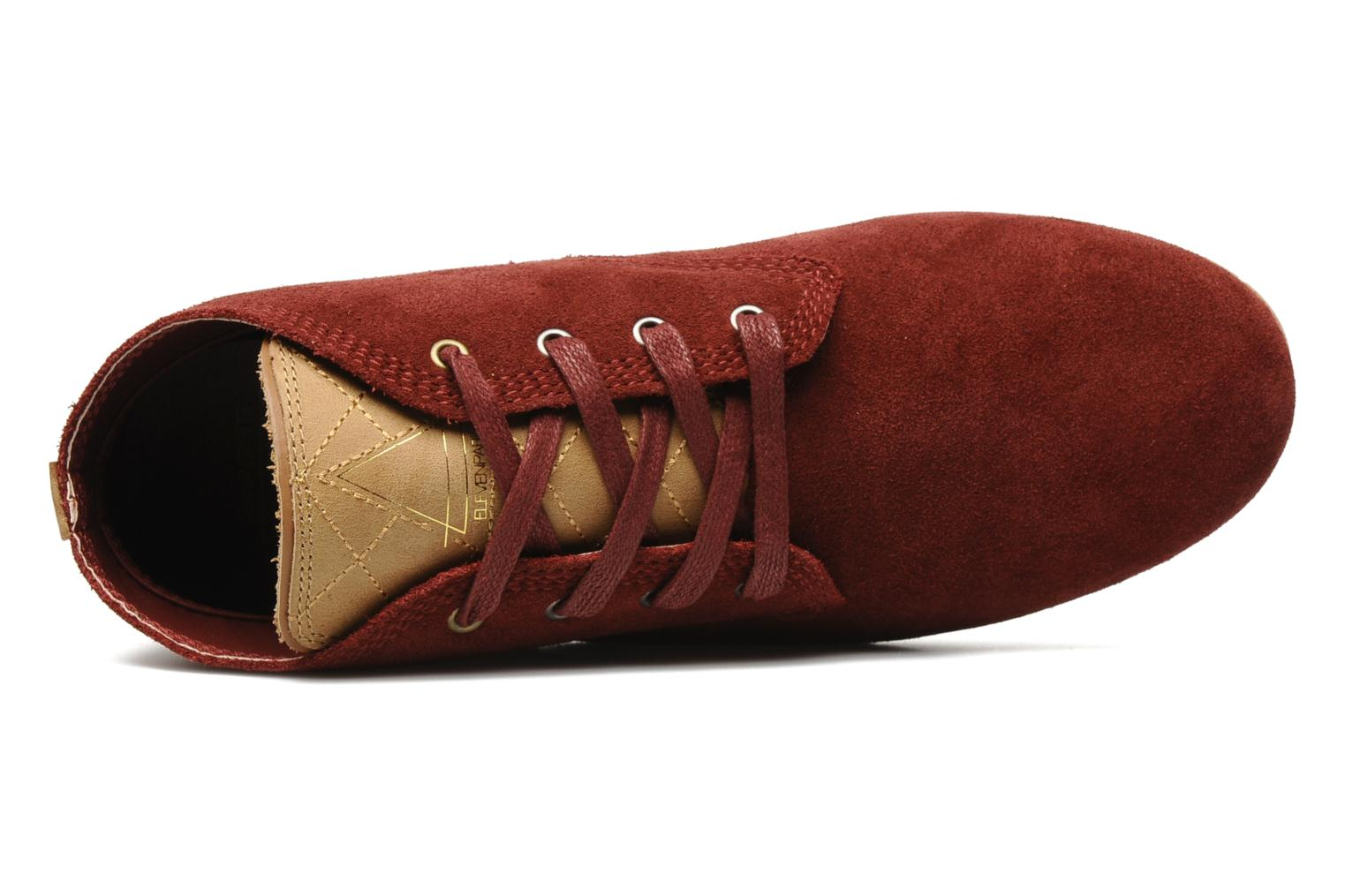 Trainers Eleven paris Basic Colors Suede F Burgundy view from the left