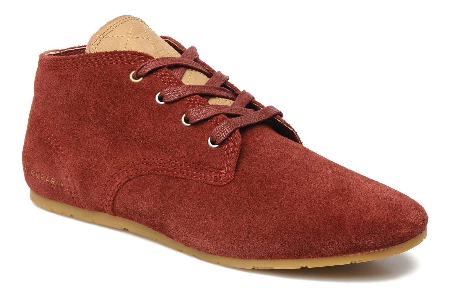 Trainers Eleven paris Basic Colors Suede F Burgundy detailed view/ Pair view