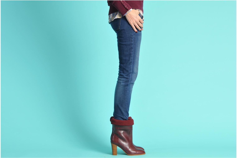 Stiefeletten & Boots Sonia Rykiel Sepia weinrot ansicht von unten / tasche getragen