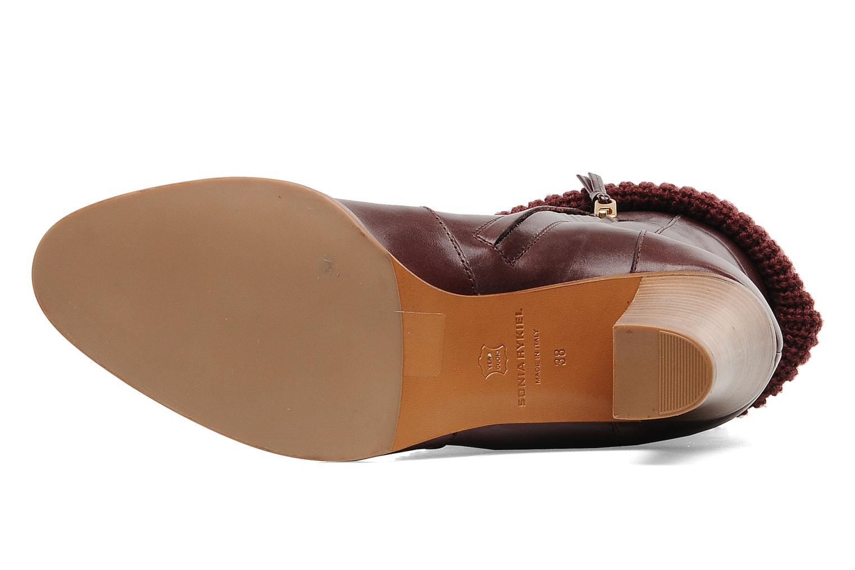 Boots en enkellaarsjes Sonia Rykiel Sepia Bordeaux boven